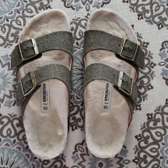 29101551c02 Birkenstock Shoes - EUC happy lamb wool Arizonas